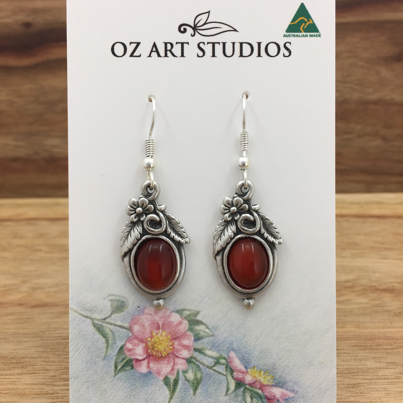 jewellery art nature product carnelian home oz gemstone earrings studios style